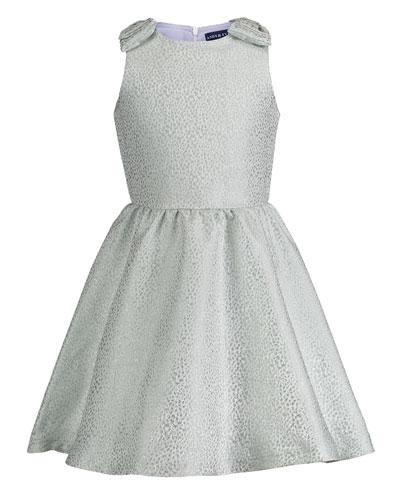 Sleeveless Cheetah Brocade Dress  Size 2-6X