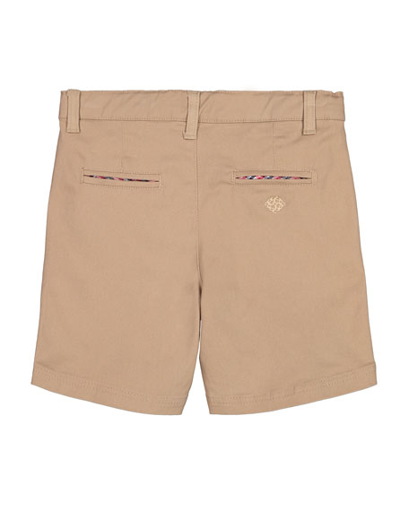Andy & Evan Cotton Twill Shorts, Size 8-14
