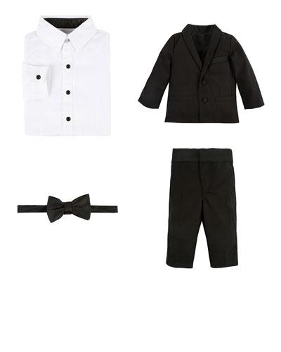 4-Piece Tuxedo Set  Size 3-24 Months