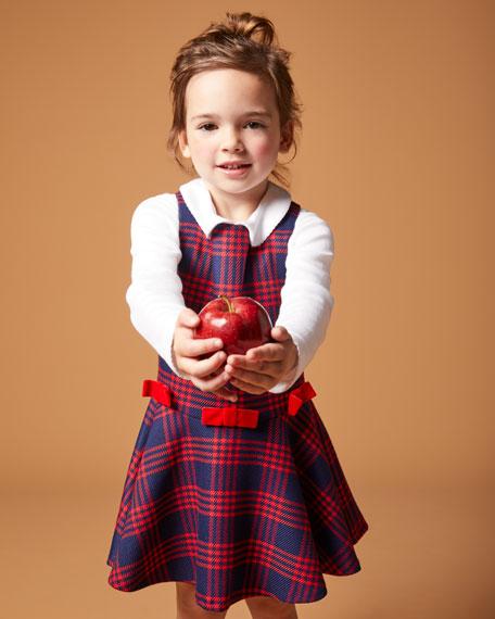 Florence Eiseman Plaid Bow Jumper w/ Knit Blouse, Size 2-6X