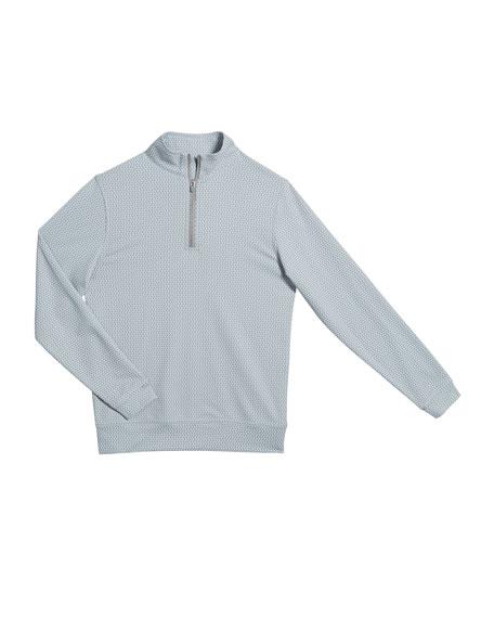 Peter Millar Boy's Perth Quarter-Zip Sweater, Size XS-XL