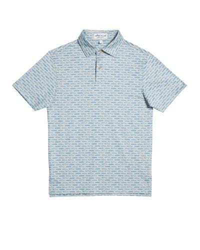 Boy's Car-Print Jersey Polo Shirt  Size XS-XL