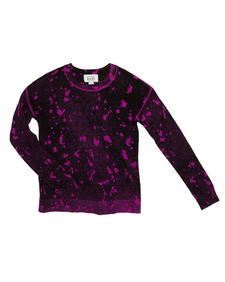 Image 1 of 1: Inked Splatter Paint Sweater, Size 8-16