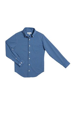 Peter Millar Boy's Check Tattersall Button-Down Shirt, Size XS-XL