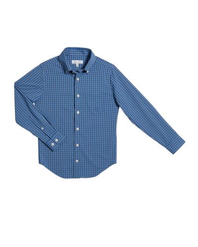 Boy's Check Tattersall Button-Down Shirt  Size XS-XL