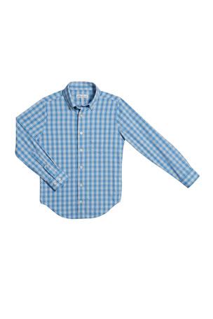 Peter Millar Boy's Tattersall Plaid Button-Down Shirt, Size XS-XL