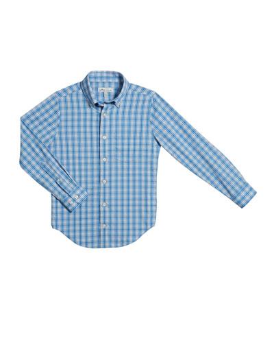 Boy's Tattersall Plaid Button-Down Shirt  Size XS-XL
