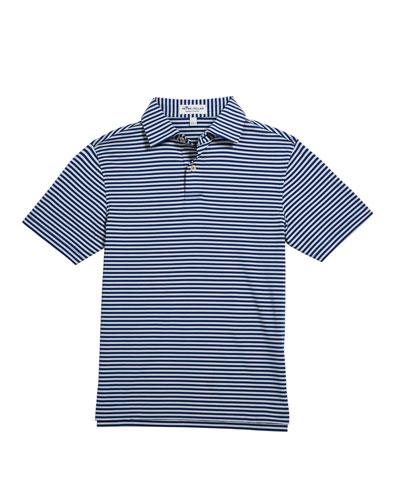 Boy's Comp Stripe Stretch Jersey Polo Shirt  Size XS-XL