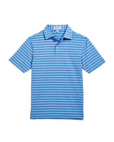 Boy's Bitter Stripe Stretch Jersey Polo Shirt  Size XS-XL
