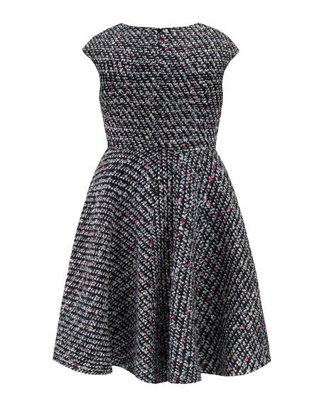 David Charles Multi-Tweed Cap-Sleeve Dress, Size 4-8