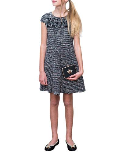 Multi-Tweed Fringe Dress  Size 10-16