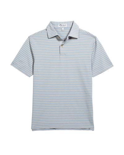 Boy's Crafty Stripe Jersey Polo Shirt  Size XS-XL