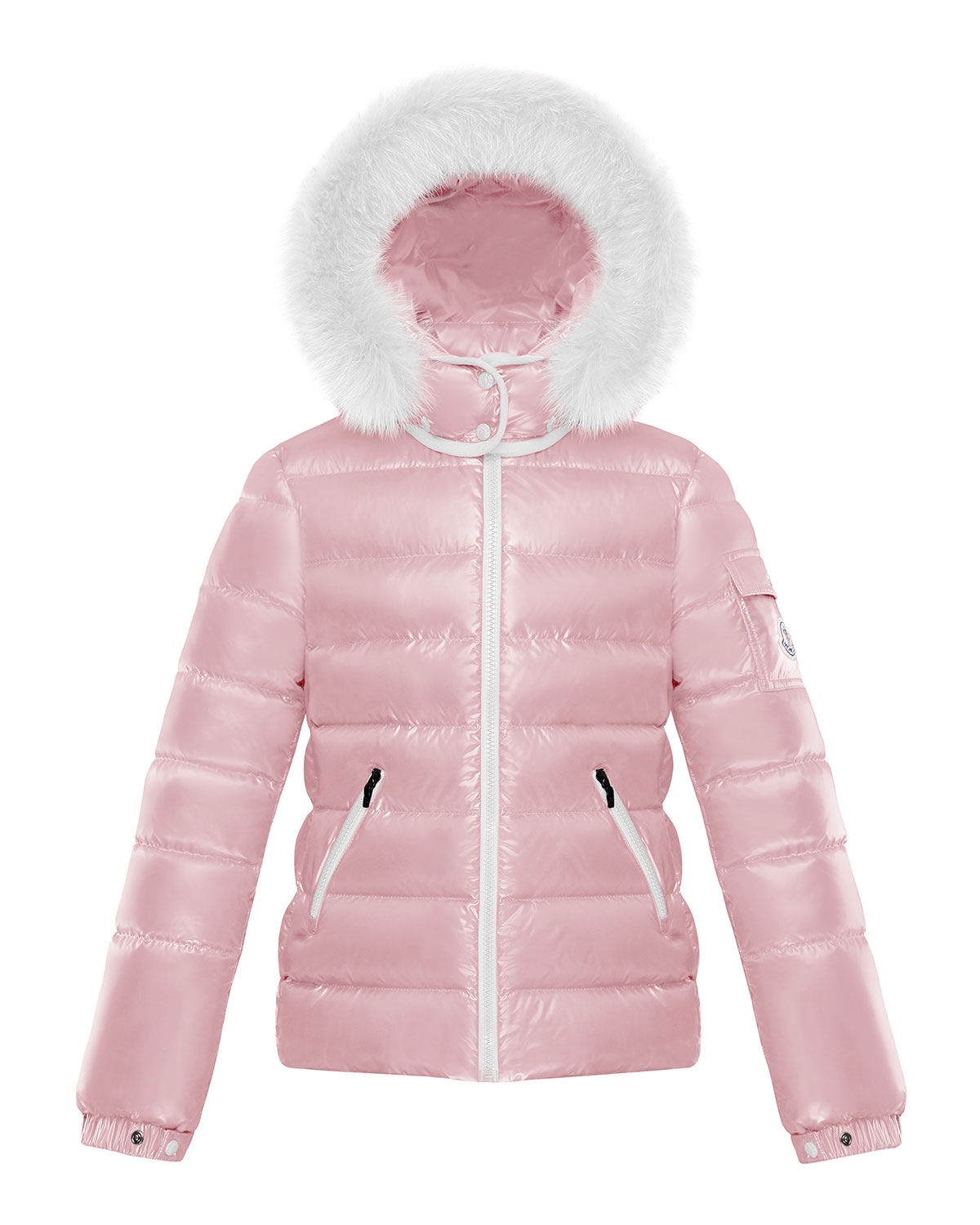 238bcb8f5 Girl's Bady Quilted Jacket w/ Fur Trimmed Hood, Size 8-14