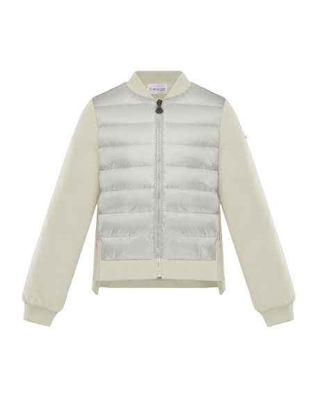 Moncler Maglia Knit & Quilted Combo Jacket, Size 8-14