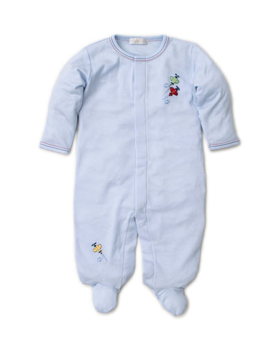 SCE Airplanes Embroidered Footie Playsuit  Size Newborn-9 Months
