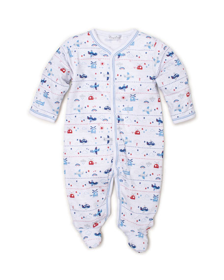 Kissy Kissy Sky Riding Printed Pima Footie Playsuit, Size Newborn-9 Months