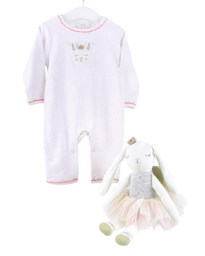 Bella Bunny Romper and Doll Set  Size 0-12 Months