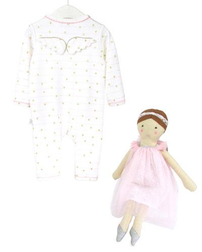 Stars & Stripes Romper & Doll Set  Size 0-12 Months