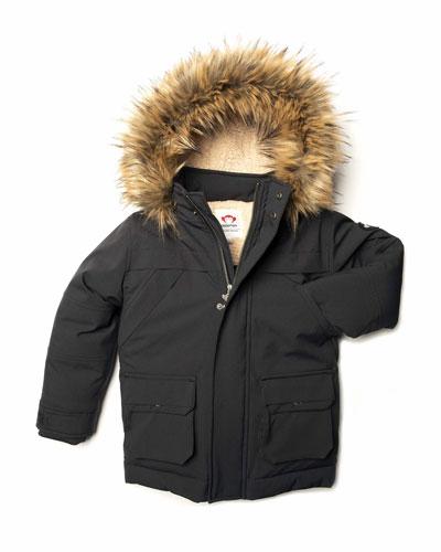 Denali Down Sherpa-Lined Coat w/ Faux Fur Trim  Size 2-10