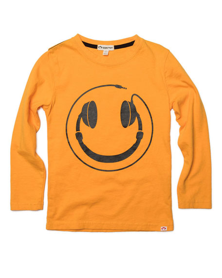 Appaman Headphones Smiley Face Graphic Tee, Size 2-10