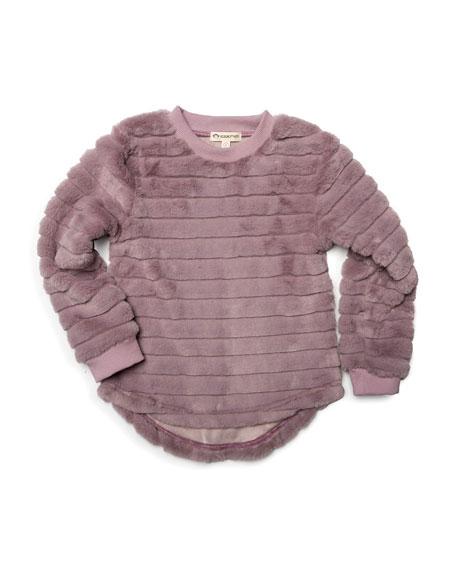 Appaman Laurel Faux-Fur Long-Sleeve Top, Size 2-14