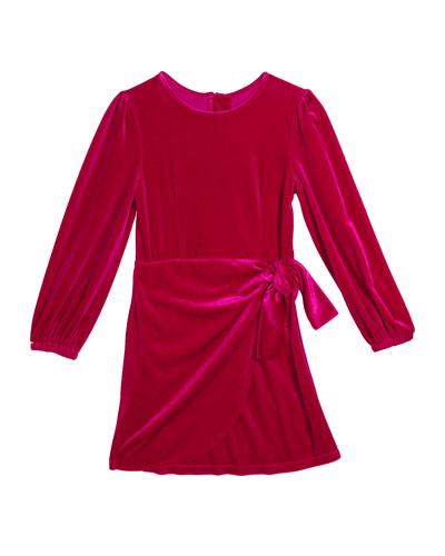 Logan Velour Wrap Dress  Size 7-14