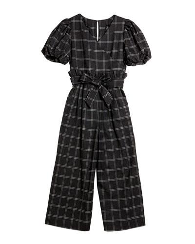 Charlie Plaid Wrap Jumpsuit  Size 7-14