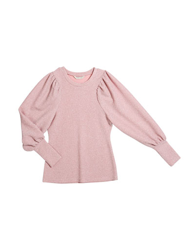 Audrey Metallic Knit Top, Size 7-14