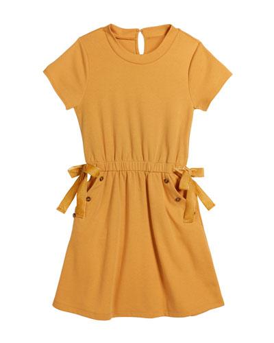 Elle Ponte Button Trimmed Dress  Size 7-14