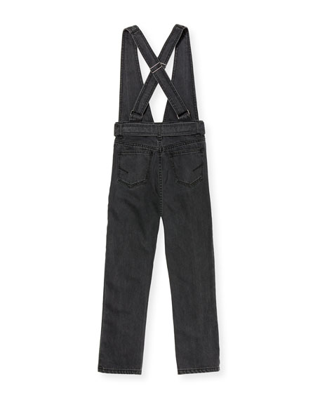 Habitual Ava Black Denim Skinny Jumpsuit, Size 7-14