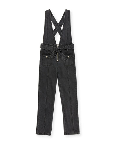 Ava Black Denim Skinny Jumpsuit  Size 7-14