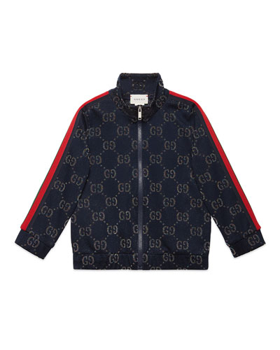 Metallic GG Jacquard Jacket w/ Web Trim Sleeves  Size 4-12