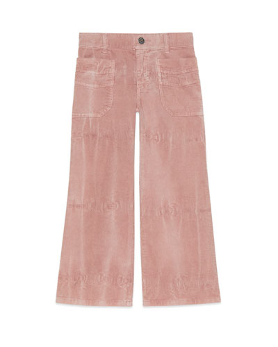 Wide Leg Corduroy Pants w/ Pineapple Patch  Size 4-12