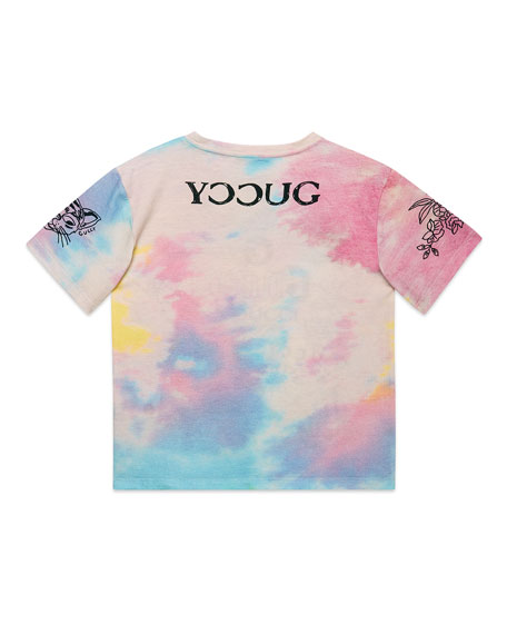 Gucci Tie Dye Logo Graphic Tee, Size 4-12