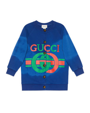 99db201c258b Gucci Interlocking G Logo Print Oversized Sweater, Size 4-10