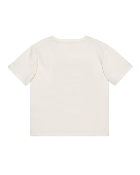 Gucci Hear My Groove Lion-Print Tee, Size 4-12