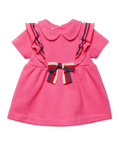 Girls' Peter Pan-Collar Ruffled Dress  Size 6-36 Months