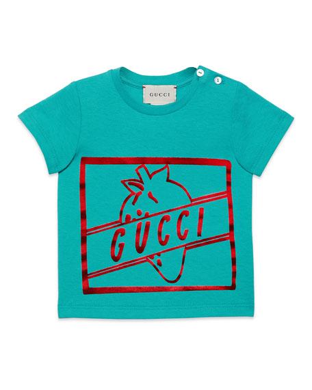 Gucci Girls' Short-Sleeve Crewneck Graphic T-Shirt, Size 6-36 Months