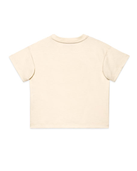 Gucci Racket Logo Embroidered T-Shirt, Size 9-36 Months
