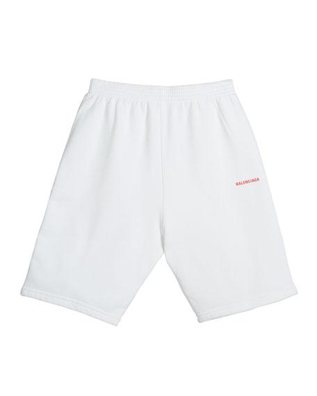 Balenciaga Kid's Logo Shorts, Size 2-10