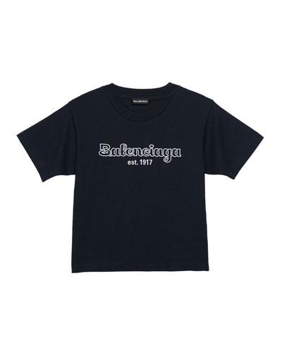 Kid's Bubble Script Logo Short-Sleeve T-Shirt  Size 2-10