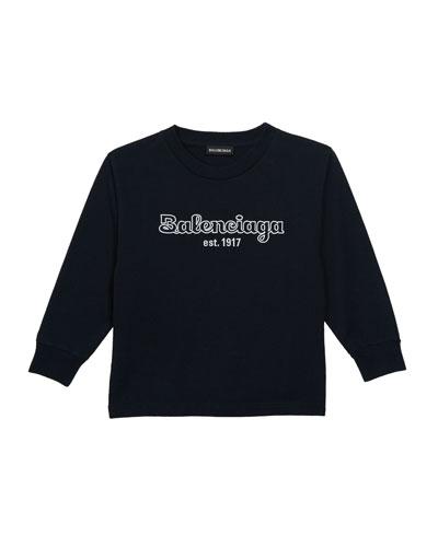 Kid's Bubble Script Logo Long-Sleeve T-Shirt  Size 2-10