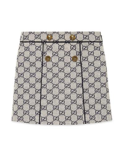 GG Jacquard Wide Pleat Skirt  Size 4-12