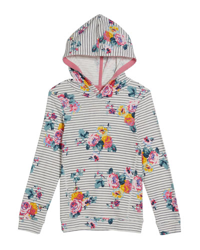 Marlston Striped & Floral Hoodie  Size 4-12