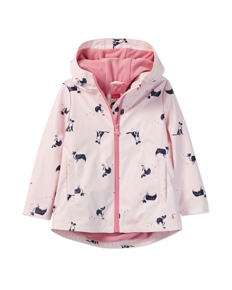 Joules Rain Dance Dog-Print Raincoat, Size 2-6