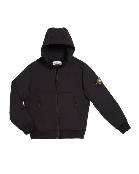 Stone Island Lightweight Techno Hooded Jacket, Size 8-10