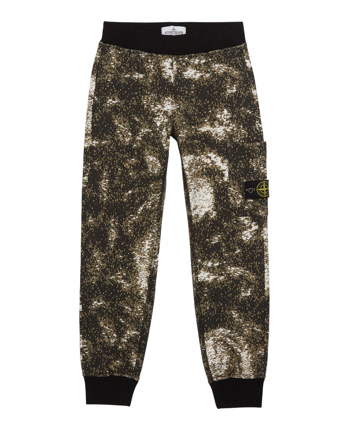 Stone Island Boy's Digital Space Print Fleece Jogger Pants, Size 12