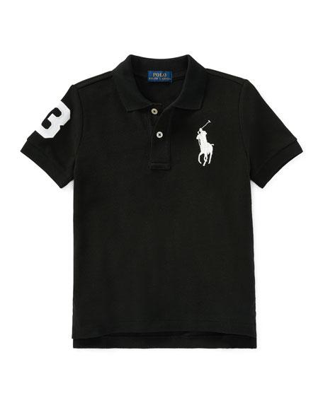 Ralph Lauren Childrenswear Big Pony Mesh Knit Polo, Size 2-3
