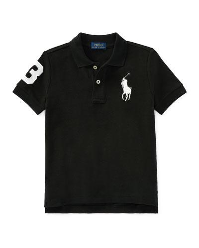 Big Pony Mesh Knit Polo, Size 4-7