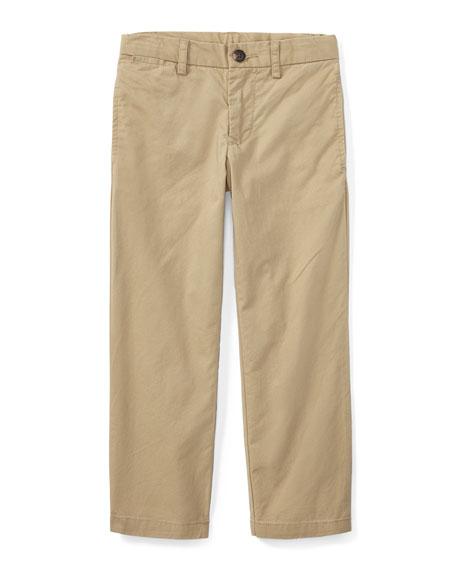 Ralph Lauren Childrenswear Chino Flat Front Straight Leg Pants, Size 2-3